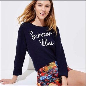 Loft Summer Vibes 3/4 Sleeve Summer Sweater